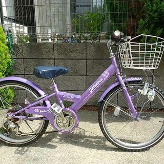 【ネット決済】自転車22インチ 6段変速 女の子用