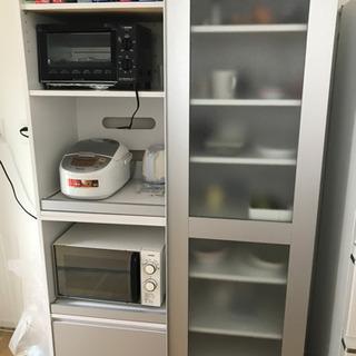 【ネット決済】ガラス引き戸食器棚