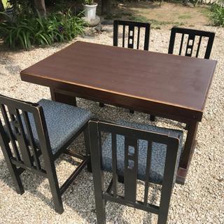 机、椅子4脚セット1000円