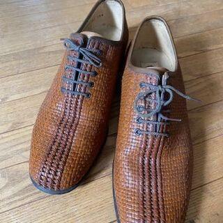 紳士靴 メッシュ 革底 25.0cmEE