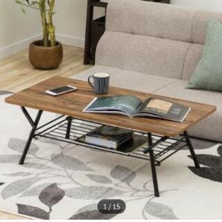 【あげます】ニトリ折りたたみローテーブル シェルフィ