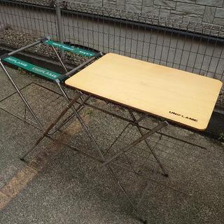 ユニフレーム キッチンスタンド テーブル 木製 スノーピーク コ...