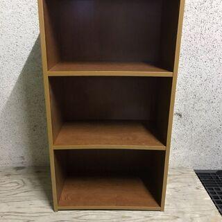 木製 3段 カラーボックス 本棚 収納棚 幅47cm×奥行30c...