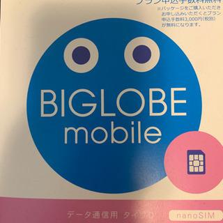 新品未使用 BIGLOBE スマホパッケージ データsim