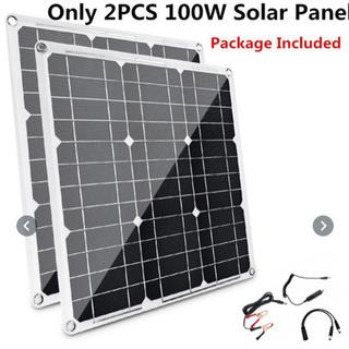 ソーラーパワーパネル 新品 コントローラー付き