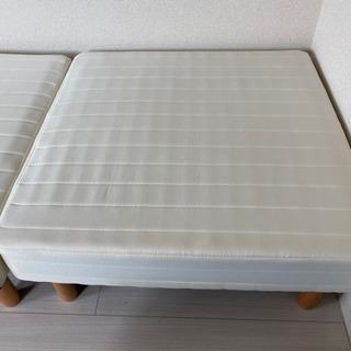 マットレス付きシングルベッド(分割タイプ) - 家具