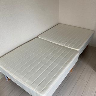 マットレス付きシングルベッド(分割タイプ) - 京都市