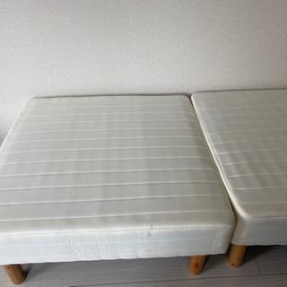マットレス付きシングルベッド(分割タイプ)の画像