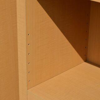 激安 先着順♪ 木製 本棚 2セット ①W745×D300×H1140mm 側面シミあり - 家具