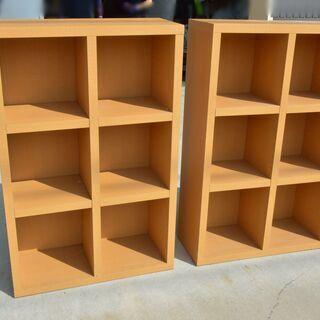 激安 先着順♪ 木製 本棚 2セット ①W745×D300×H1140mm 側面シミありの画像