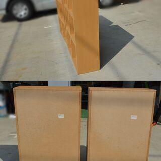 激安 先着順♪ 木製 本棚 2セット ①W745×D300×H1140mm 側面シミあり − 愛知県