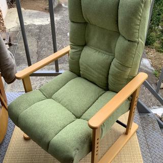 高座椅子 折りたたみ式 肉厚クッション グリーン