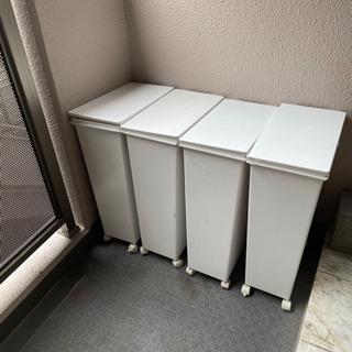 【ネット決済】45ℓ ゴミ箱 4個セット 蓋とキャスター付き 1