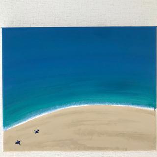 アクリル画(砂浜)