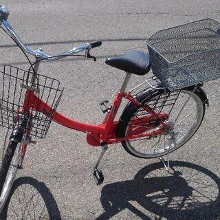 22インチ 🚲 中古 自転車 4480円 🔑 鍵、リアかご有✨ ...