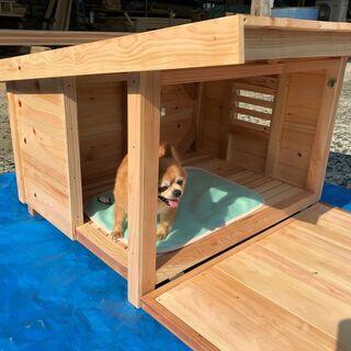【ネット決済・配送可】職人手作りの犬小屋