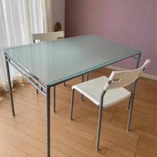 IKEA ガラストップ ダイニングテーブル