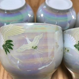 199、湯飲み茶わん 鶴のデザイン、5個セット - 売ります・あげます
