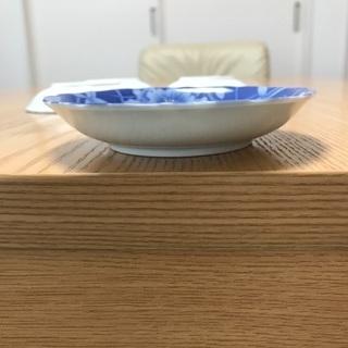 200、昭和レトロな青い小皿 4枚セット − 岡山県
