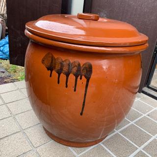 丸壺10号 蓋付き 18リットル 漬物壺
