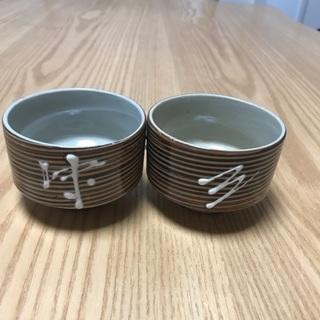 202、湯飲み茶わん(茶系) 2枚セット 昭和レトロ
