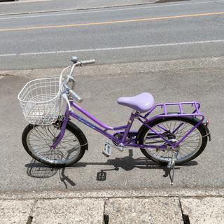 子ども用自転車✨女の子向け✨20インチ 紫色✨鍵なし✨動作確認済...