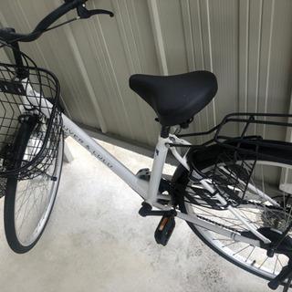 自転車 白