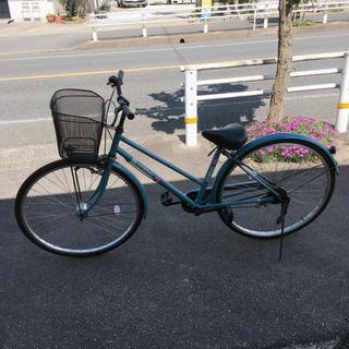 自転車✨ママチャリ✨27インチ 水色✨鍵あり✨ブレーキやベルの動...
