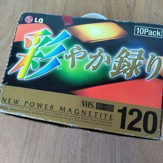 🉐セール🌈未開封VHSビデオテープ10本セット 120/360分...