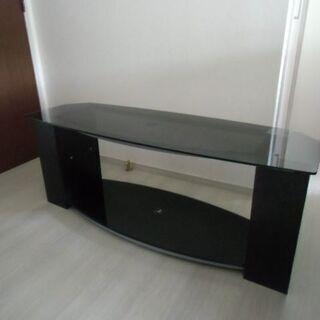 ◆ニトリ 天板ガラス製 テレビ台 巾123cm×高さ49c…