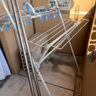 屋外用洗濯物干し、ハンガー、竿