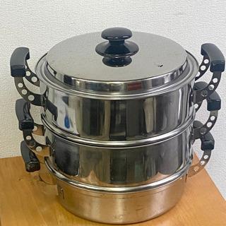 中古 蒸し鍋3段 (鍋1-63)