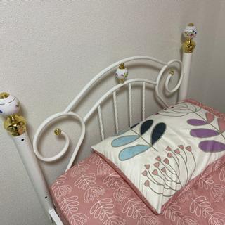 シングルベッド お姫様系 かわいい ベッドフレーム
