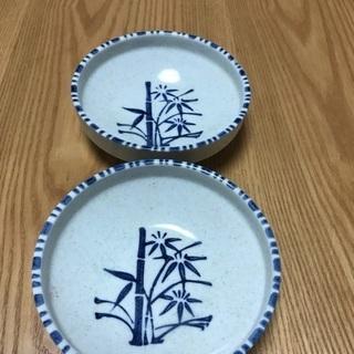 205、昭和レトロな 小鉢 2個(竹模様)