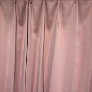 スモーキーピンクカーテン 200㎝✖️100㎝ 2枚