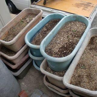 プランターで使った 土(園芸)もらってください!の画像
