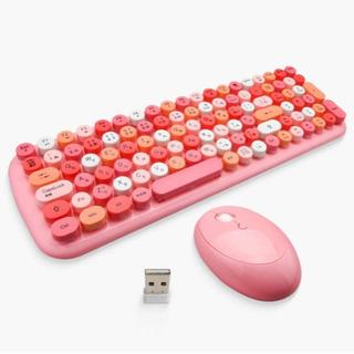 ワイヤレスキーボード ピンク