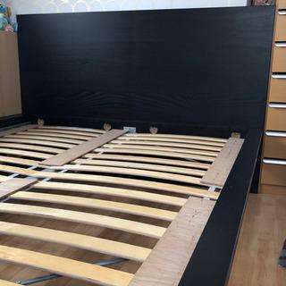 【ネット決済】【IKEA】ワイドダブルベッド フレームのみ