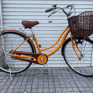 【ネット決済・配送可】【中古自転車】26インチ変速なし カラフル...