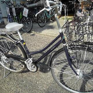 中古自転車1573 27インチ 6段ギヤオートライト