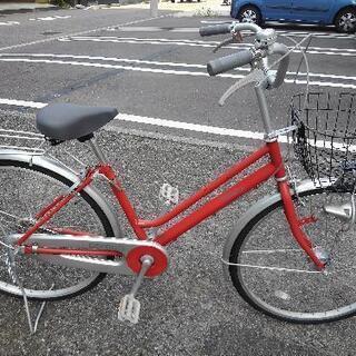 中古自転車1574 前後タイヤ新品! 26インチ ギヤなし オー...
