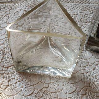 ガラス角形2個 インテリア