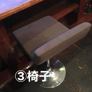 お店で使用したカウンター椅子です。②