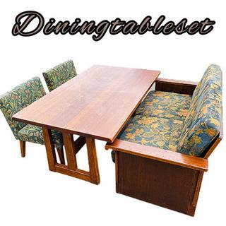 食卓テーブル 椅子 4点セット 配送室内設置可能‼︎ K06031