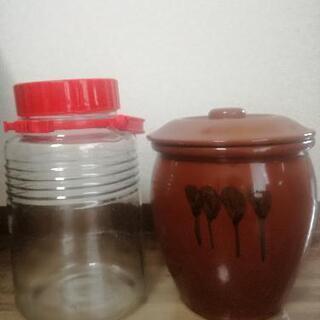 【ネット決済】果実酒ビン&漬物壺