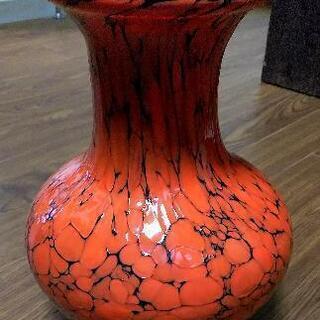花瓶 フラワーベース 壺 ガラス製 昭和レトロ アンティー…