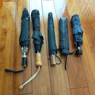 追加しました。黒折りたたみ傘 5本セット