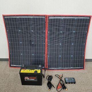 DOKIO 折り畳み単結晶ソーラーパネルと自動車用バッテリー