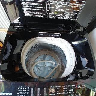 洗濯機 5.5キロ 2017年式 ブラック