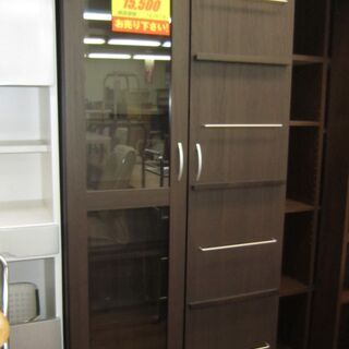 R071  扉付き書棚・本棚(スライド式) 幅80cm 美品